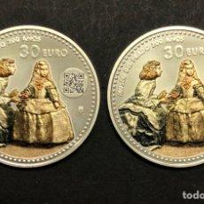 Monedas de Felipe VI: LOTE DE 2 MONEDAS DE PLATA - PRADO 2019 ESPAÑA. Lote 275303723