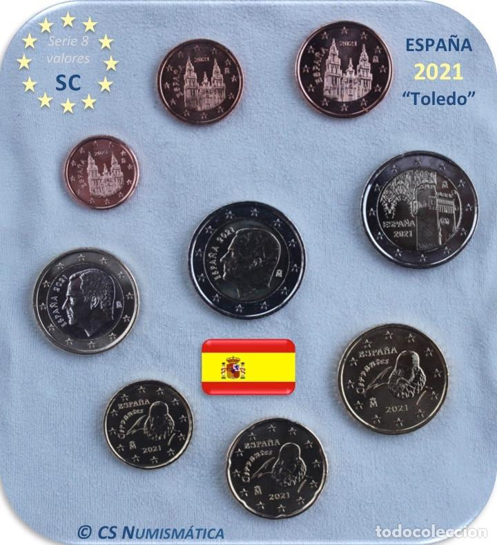 "SERIE ESPAÑA 2021 SC + 2€ CONMEMORATIVA 2021 ""TOLEDO"" SC (Numismática - España Modernas y Contemporáneas - Felipe VI)"