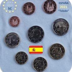 "Monedas de Felipe VI: SERIE ESPAÑA 2021 SC + 2€ CONMEMORATIVA 2021 ""TOLEDO"" SC. Lote 276359718"
