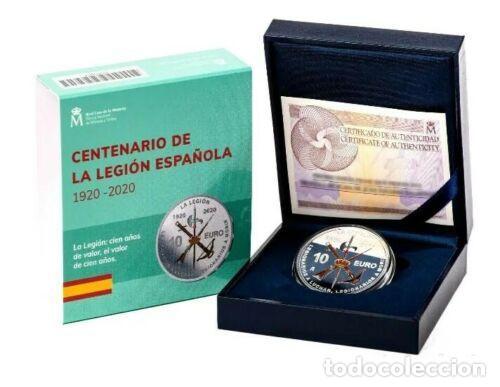 ESPAÑA: 10 EURO PLATA 2020 PROOF LA LEGION ESPAÑOLA 100 ANIVERSARIO OFERTA ESPECIAL (Numismática - España Modernas y Contemporáneas - Felipe VI)