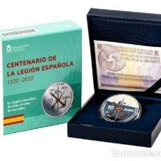 Monedas de Felipe VI: ESPAÑA: 10 EURO PLATA 2020 PROOF LA LEGION ESPAÑOLA 100 ANIVERSARIO OFERTA ESPECIAL. Lote 288932368