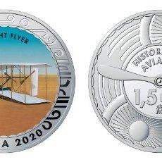 Monedas de Felipe VI: ESPAÑA 1,5 EURO 2020 MULTICOLOR WRIGHT FLYER - 1ª MAQUINA VOLADORA A MOTOR. Lote 277760928