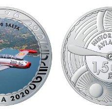Monedas de Felipe VI: ESPAÑA 1,5 EURO 2020 MULTICOLOR HA-200 SAETA - AVIÓN DE ENTRENAMIENTO Y ATAQUE. Lote 277761813