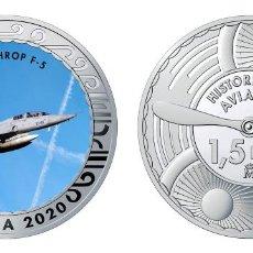 Monedas de Felipe VI: ESPAÑA 1,5 EURO 2020 MULTICOLOR NORTHROP F-5 AVIÓN DE COMBATE SUPERSONICO. Lote 277762598