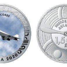 Monedas de Felipe VI: ESPAÑA 1,5 EURO 2020 MULTICOLOR CONCORDE AVIÓN SUPERSÓNICO TRANSPORTE PASAJEROS. Lote 277821068