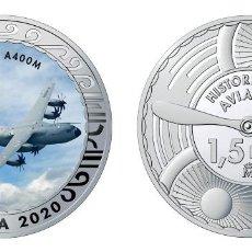Monedas de Felipe VI: ESPAÑA 1,5 EURO 2020 MULTICOLOR AIRBUS A400M AVIÓN MILITAR DE TRANSPORTE. Lote 278226538