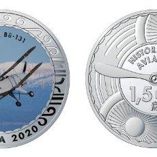 Monedas de Felipe VI: ESPAÑA 1,5 EURO 2020 MULTICOLOR BÜCKER BÜ-131 ENTRENADOR BÁSICO ALEMAN. Lote 278227173