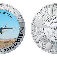 Monedas de Felipe VI: ESPAÑA 1,5 EURO 2020 MULTICOLOR CASA C-212 AVIOCAR - AVIÓN DE TRANSPORTE TÁCTICO. Lote 278227778