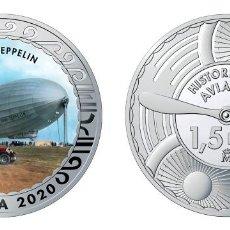 Monedas de Felipe VI: ESPAÑA 1,5 EURO 2020 MULTICOLOR GRAF ZEPPELIN - GRAN DIRIGIBLE ALEMÁN. Lote 278228278