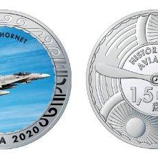 Monedas de Felipe VI: ESPAÑA 1,5 EURO 2020 MULTICOLOR F/A-18 HORNET - CAZA POLIVALENTE BIMOTOR. Lote 278235728
