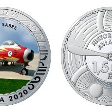 Monedas de Felipe VI: ESPAÑA 1,5 EURO 2020 MULTICOLOR F-86 F SABRES - AVIÓN CAZA. Lote 278236178