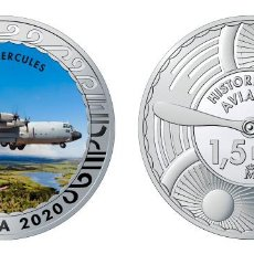 Monedas de Felipe VI: ESPAÑA 1,5 EURO 2020 MULTICOLOR C-130 HERCULES - AVIÓN DE TRANSPORTE TÁCTICO. Lote 278236583