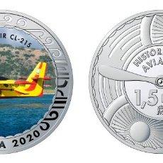 Monedas de Felipe VI: ESPAÑA 1,5 EURO 2020 MULTICOLOR CANADAIR CL-215 - AVIÓN CONTRAINCENDIOS. Lote 278266783