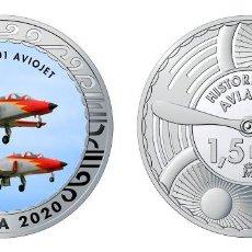 Monedas de Felipe VI: ESPAÑA 1,5 EURO 2020 MULTICOLOR CASA C-101 AVOJET AVIÓN DE REACCIÓN. Lote 278268668