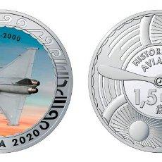 Monedas de Felipe VI: ESPAÑA 1,5 EURO 2020 MULTICOLOR EUROFIGHTER EF-2000 - CAZA POLIVALENTE. Lote 278269098