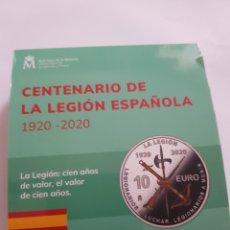 Monedas de Felipe VI: ESPAÑA 10 € PLATA 2020 CENTENARIO DE LA LEGIÓN ESPAÑOLA 1920-2020. Lote 278523728