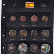 Monedas de Felipe VI: ESPAÑA 2018 COLECCIÓN COMPLETA DE MONEDAS S/C MONTADAS EN HOJA PARDO. Lote 286528953