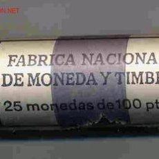 Monedas FNMT: CARTUCHO 25 MONEDAS 100 PESETAS 1990 FNMT. ORIGINAL , RB. Lote 62393439