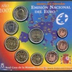 Monedas FNMT: CARTERA SET OFICIAL MONEDAS 2007 EUROS ESPAÑA ORIGINALES FNMT 9 MONEDAS RB. Lote 268848329