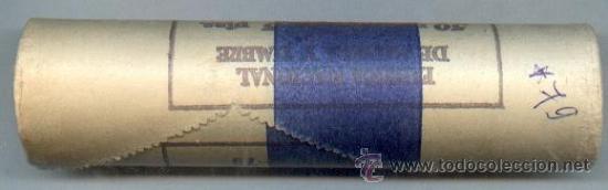 CARTUCHO ORIGINAL DE LA F.N.M.T. MONEDAS DE 5 PESETAS AÑO 1975*79 (Numismática - España Modernas y Contemporáneas - FNMT)