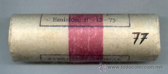 CARTUCH0 ORIGINAL DE LA F.N.M.T. 40 MONEDAS DE 25 PESETAS AÑO 1975*77 (Numismática - España Modernas y Contemporáneas - FNMT)