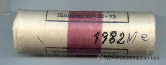 CARTUCHO ORIGINAL DE LA F.N.M.T. 40 MONEDAS DE 25 PESETAS AÑO 1982 (Numismática - España Modernas y Contemporáneas - FNMT)