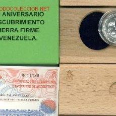 Monedas FNMT: MONEDA 3 E. 1998. 500 ANIVERSARIO DESCUBRIMIENTO TIERRA FIRME. VENEZUELA. REYES CATÓLICOS. ESPAÑA.. Lote 27167913