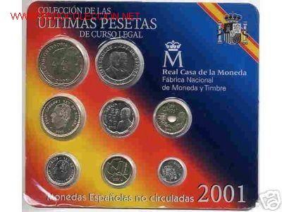 CARTERA SET FNMT PESETAS 2001 , ULTIMAS PESETAS , OFICIAL. (Numismática - España Modernas y Contemporáneas - FNMT)