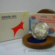 Monedas FNMT: *** OFERTA - 10 EUROS PLATA 2002 PRESIDENCIA UNION EUROPEA ***. Lote 140950562