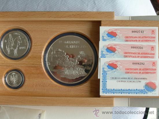 Monedas FNMT: COLECCION EURO 1998 PLATA COMPLETA 3 MONEDAS - Foto 2 - 27318334
