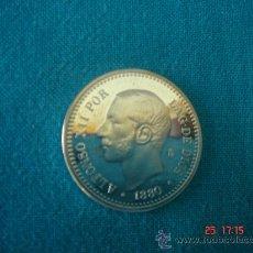 Monedas FNMT: CINCUENTA CÉNTIMOS DE ALFONSO XII DE PLATA -188O-. DIÁMETRO.- 2,5 CMS. CON SU ESTUCHE. FNMT. Lote 26852471