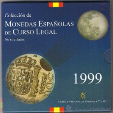 Monedas FNMT: CARTERA - ESTUCHE, DE J.CARLOS I, AÑO 1999 PTS. INTACTA. PORTE NORMAL GRATIS, CERT. -50%. Lote 92317727