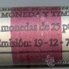 Monedas FNMT: CARTUCHO ORIGINAL DE LA F.N.M.T. 40 MONEDAS DE 25 PESETAS AÑO 1975*80. Lote 27135508