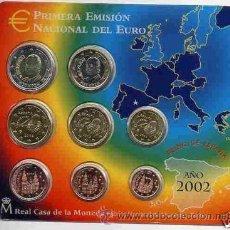 Monedas FNMT: CARTERA OFICIAL EUROS 2002. Lote 27262669