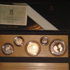 Monedas FNMT: MONEDAS 5 VALORES CURSO LEGAL PLATA SERIE I 1989 FNMT 500 AÑOS. Lote 26480609