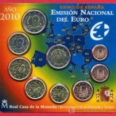 Monedas FNMT: CARTERA OFICIAL FNMT , EUROS ESPAÑA , 2010 , SET 9 MONEDAS ,RB. Lote 268848394
