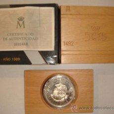 Monedas FNMT: MONEDA 5.000 PTAS. PLATA FNMT. Lote 26480562