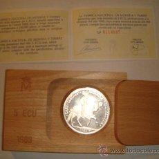 Monedas FNMT: MONEDA DE 5 ECU PLATA DE 1989 FNMT. Lote 26480611