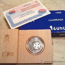 Monedas FNMT: CAJA PROOF DE LA F.N.M.T. 1 EURO 1998, LAUREADA, PERFECTA, VER FOTOS.. Lote 92317069