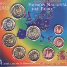 Monedas FNMT: .MONEDAS FNMT ESPAÑA 2005 EUROSET 9 MONEDAS. Lote 207369483