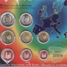 Monedas FNMT: .MONEDAS FNMT ESPAÑA 2004 EUROSET 8 MONEDAS . Lote 22840576
