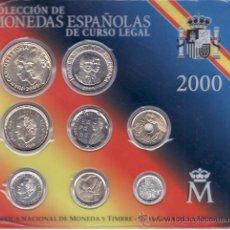 Monedas FNMT: .MONEDAS FNMT ESPAÑA 2000 SET PTAS, 8 MONEDAS. Lote 22857077