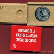 Monedas FNMT: ESTUCHE 1000 PESETAS 1997 , PLATA , CENTENARIO ANTONIO CANOVAS DEL CASTILLO. Lote 71729850