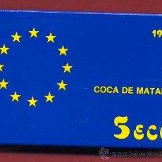 Monedas FNMT: ESTUCHE MONEDA 5 ECU 1996 , ECUS, COCA DE MATARO , PLATA PROF, ORIGINAL FNMT . Lote 26348740