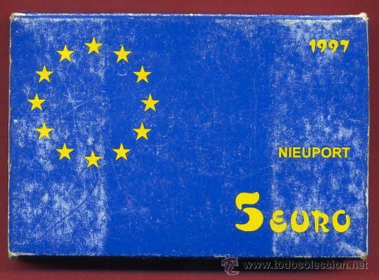 ESTUCHE MONEDA 5 EURO 1997 , EUROS, AVIACION NIEUPORT , PLATA PROF, ORIGINAL FNMT, CARTON ROZADO (Numismática - España Modernas y Contemporáneas - FNMT)