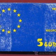 Monedas FNMT: ESTUCHE MONEDA 5 EURO 1997 , EUROS, AVIACION NIEUPORT , PLATA PROF, ORIGINAL FNMT, CARTON ROZADO. Lote 24872175