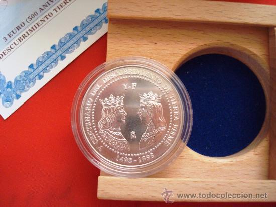 Monedas FNMT: Moneda FNMT 1998 Serie 500 Aniversario Descubrimiento Tierra Firme. Venezuela. Facial 3 euros - Foto 2 - 27189072