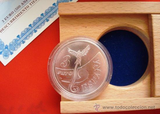 Monedas FNMT: Moneda FNMT 1998 Serie 500 Aniversario Descubrimiento Tierra Firme. Venezuela. Facial 3 euros - Foto 3 - 27189072