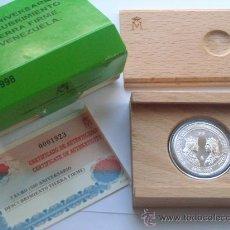 Monedas FNMT: 3 EUROS PLATA 1998 DESCUBRIMIENTO TIERRA FIRME VENEZUELA COMPLETO. Lote 27618543