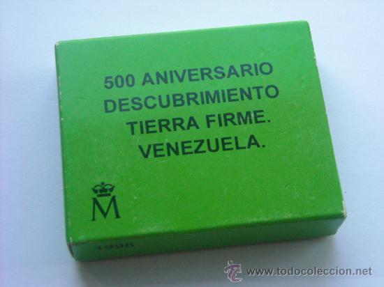 Monedas FNMT: 3 euros plata 1998 descubrimiento tierra firme venezuela completo - Foto 5 - 27618543